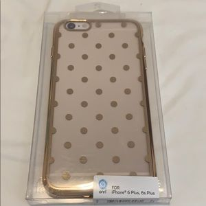 Other - iPhone 6 Plus/6s Plus case | gold with polka dots